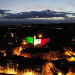 proiezione_del_tricolore_divum_led_goboservice_roddi